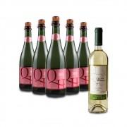 Compre 5 Espumantes Rosé e leve GRÁTIS um Vinho Moscato Gialo