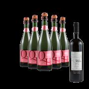 Compre 5 Espumantes Rosé e leve GRÁTIS um Vinho Tinto Cabernet Souvignon