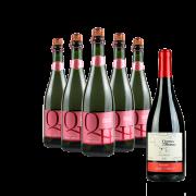 Compre 5 Espumantes Rosé e leve GRÁTIS um Vinho Tinto Pinot Noir