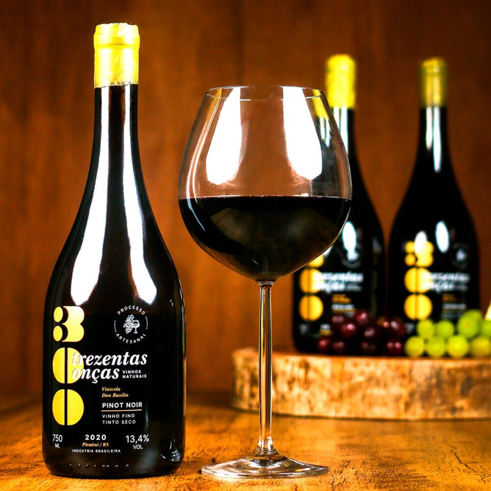 Vinho Natural 300 Onças Pinot Noir - Villa Don Basílio