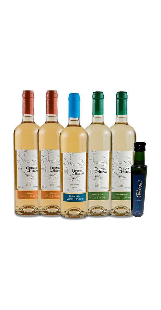 Combo Vinhos Brancos - Brinde Azeite de Oliva - FRETE GRÁTIS