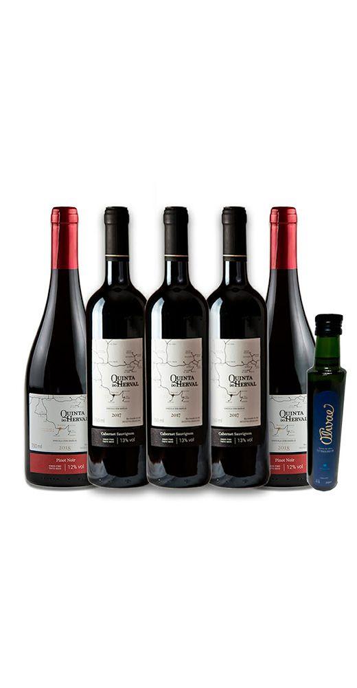Combo Vinhos Tintos - Brinde Azeite de Oliva - FRETE GRÁTIS
