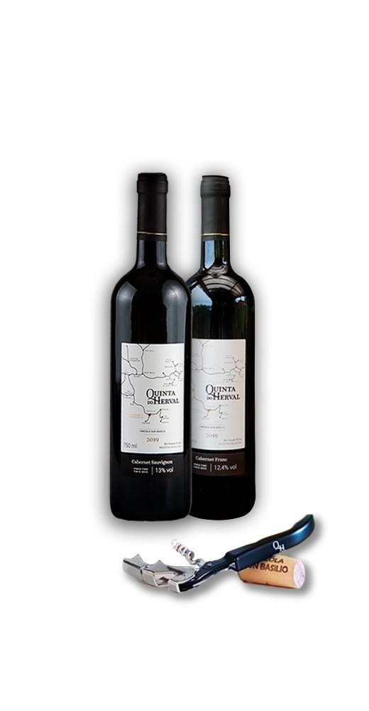 Compre 1 Vinho Cabernet Sauvignon + 1 Vinho Cabernet Franc GANHE 1 Saca Rolhas de presente