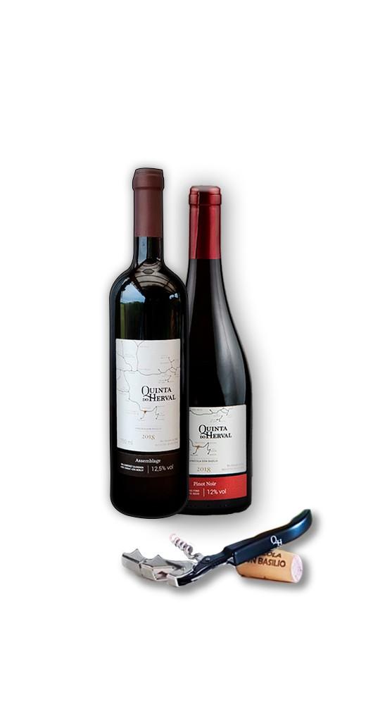 Compre 1 Vinho Pinot Noir + 1 Vinho Assemblage GANHE 1 Saca Rolhas de presente