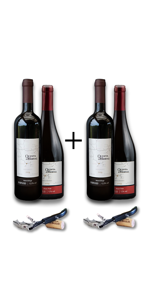Compre 2 Vinhos Pinot Noir + 2 Vinhos Assemblage GANHE 2 Saca Rolhas de presente