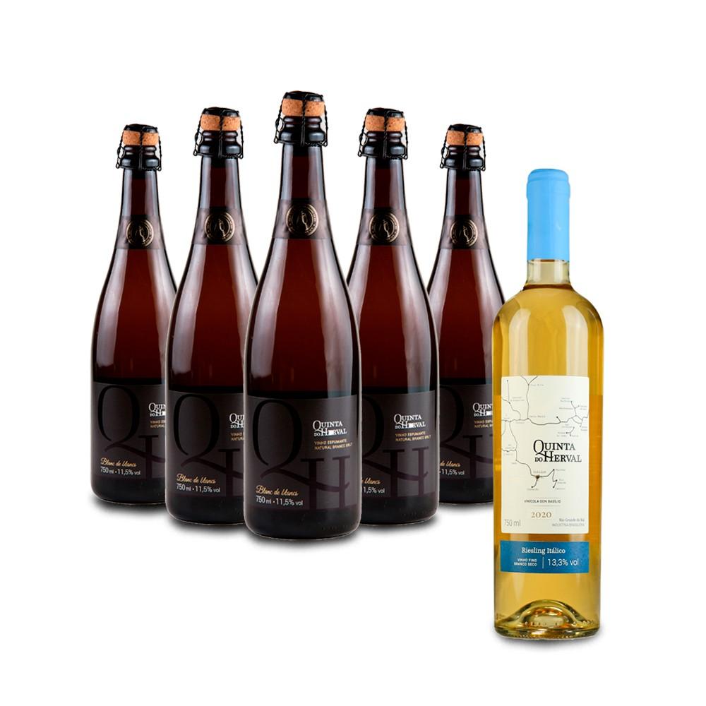 Compre 5 Espumantes Branco Brut e leve GRÁTIS um Vinho Riesling