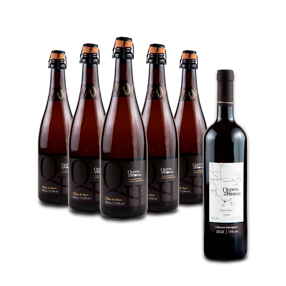 Compre 5 Espumantes Branco Brut e leve GRÁTIS um Vinho Tinto Cabernet Souvignon