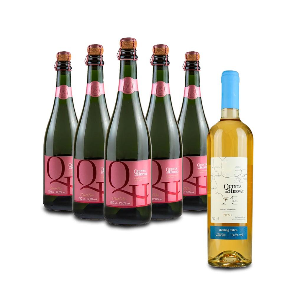 Compre 5 Espumantes Rosé e leve GRÁTIS um Vinho Riesling