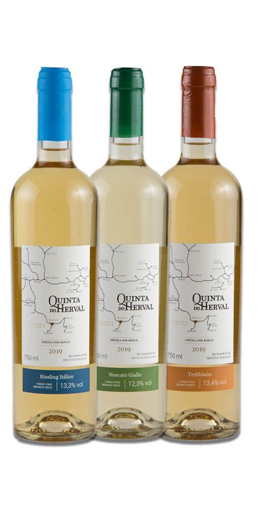 Kit de Vinhos Brancos - Trebbiano + Moscato Giallo + Riesling