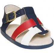 Sandália Pimpolho Fase 2 Azul Marinho/Vermelho