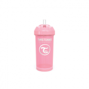 Straw Cup 360ml 12m+ Rosa