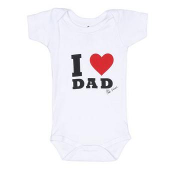 Body Manga Curta Unissex I Love Dad