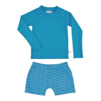 Conjunto camisa UV e sunga azul Pimpolho