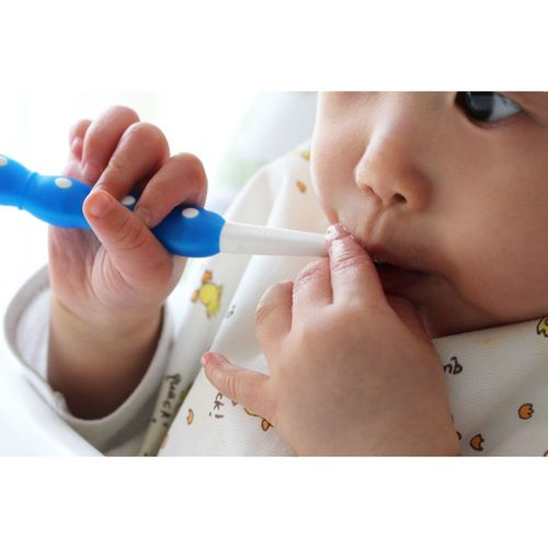 Escova Dental Mam Baby's Brush 6+ Cabo Curto Azul
