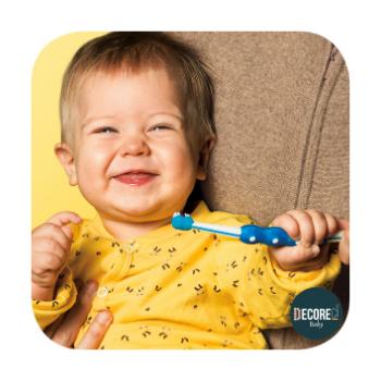 Escova Dental Training MAM Baby Brush 5m+ Azul