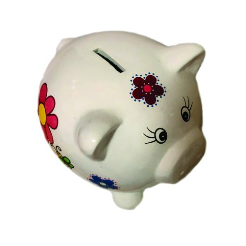Porquinho Cofre Peq  Cerâmica