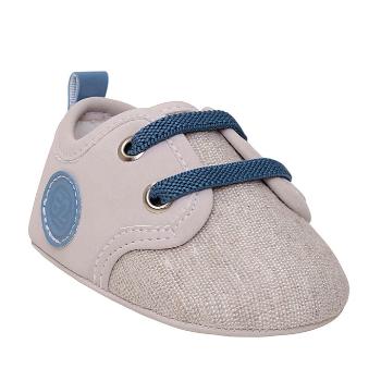 Sapato Pimpolho Fase 01 - Cinza-Cadarço Azul