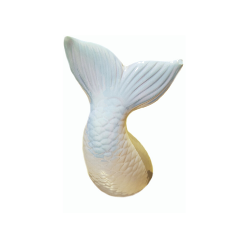 Sereia cauda cofre cerâmica