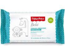 Toalhas Umedecidas Bebê Fisher Price Sem Perfume 50 Unidades