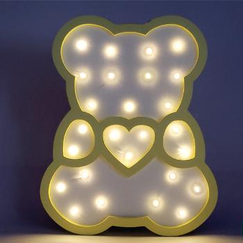 Urso  MDF Luminoso