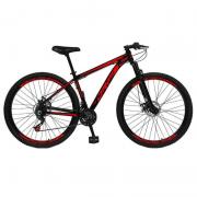 """Bicicleta Caloi Elite Alumínio Tamanho XG R29 21"""" Vermelha A21"""