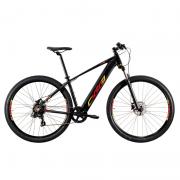 Bicicleta Elétrica Oggi 29 Roda Grande 8.0 7V Preto/Vermelho/Amarelo 15,5