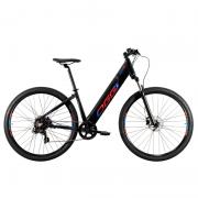 Bicicleta Elétrica Oggi 29 Flex 200 7V Preto/Azul/Vermelho 16,5