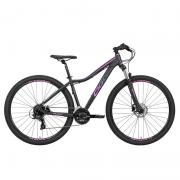 Bicicleta Oggi 29 Float 5.0 24V Preto/Rosa/Azul 15,5