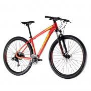 Bicicleta Oggi 29 Hacker Sport 21V Vermelho/Vinho/Amarelo 17