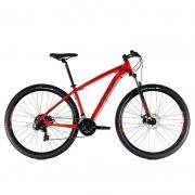 Bicicleta Oggi 29 Hacker Sport 21V Vermelho/Vinho/Amarelo 19