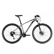 Bicicleta Oggi 29 Roda Grande 7.0 Alivio 18V Grafite/Preto/Verde-Limão 15 2021