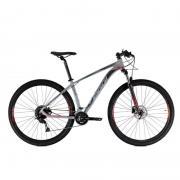 Bicicleta Oggi 29 Roda Grande 7.0 Alivio 18V Grafite/Preto/Vermelho 15,5 2021