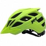 Capacete Bike Jet Guardian Preto Fosco-Verde Neon G (58-60) Jt-407
