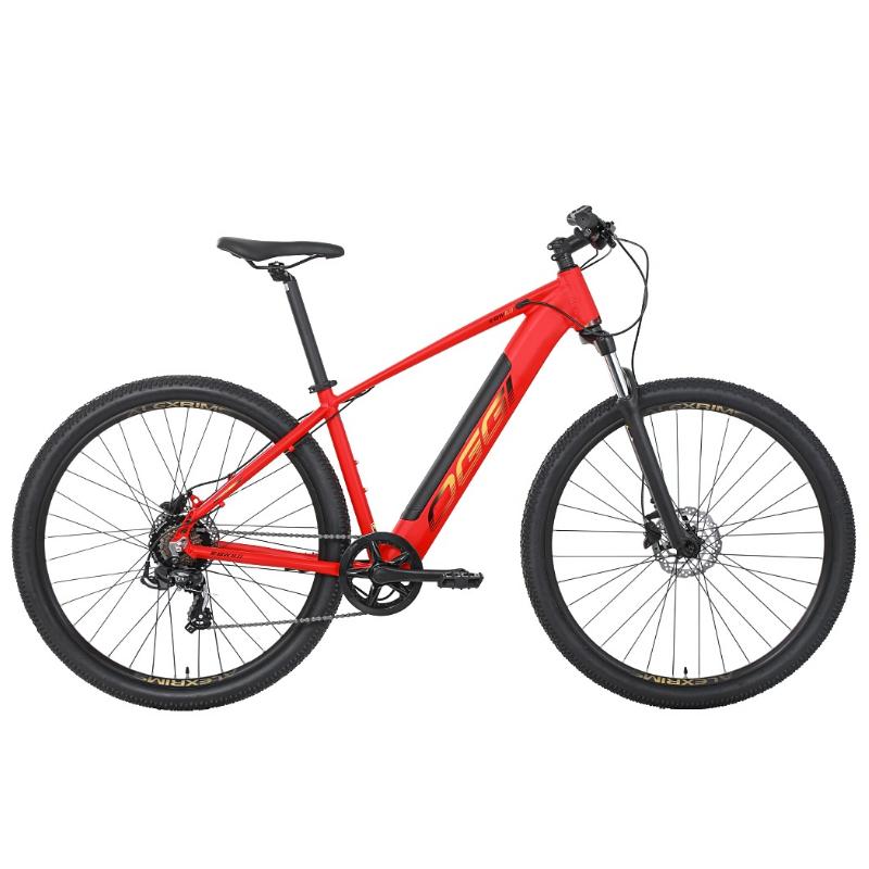 Bicicleta Elétrica Oggi 29 Roda Grande 8.0 7V Vermelho/Dourado 19