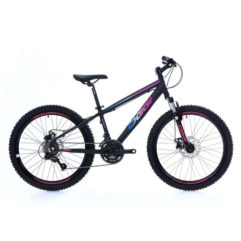 Bicicleta Oggi 24 Hacker 21V Preto/Rosa/Azul