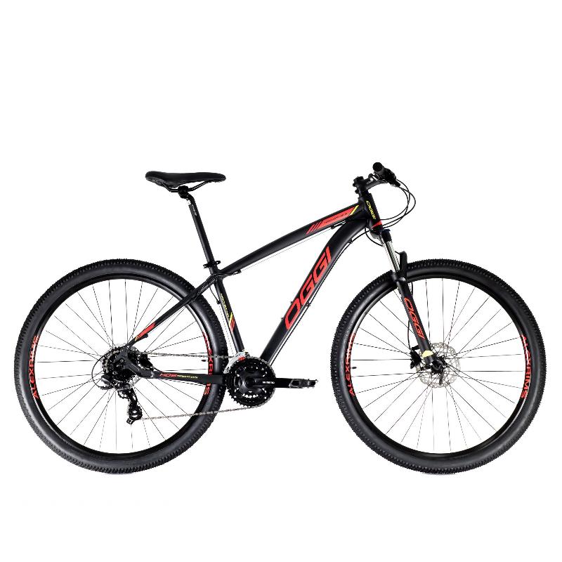 Bicicleta Oggi 29 Hacker Hidráulicos  24V Preto/Vermelho/Amarelo 19