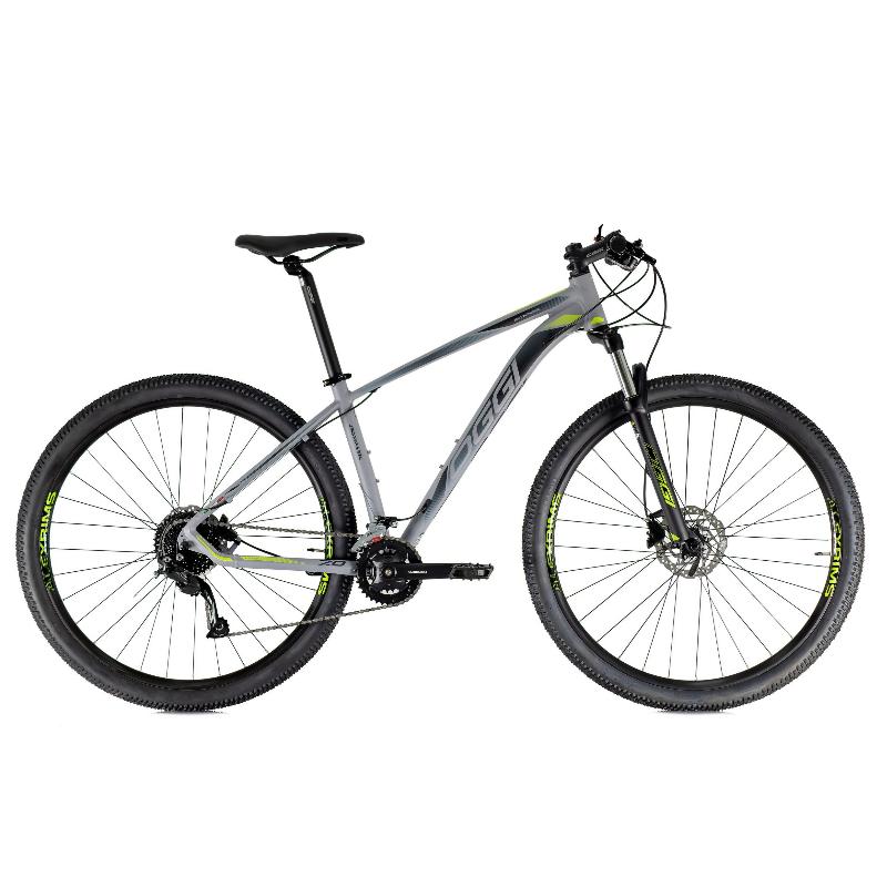 Bicicleta Oggi 29 Roda Grande 7.0 Alivio 18V Grafite/Preto/Verde-Limão 19 2021