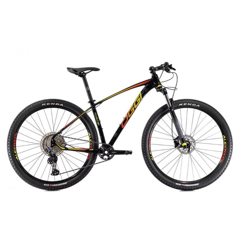 Bicicleta Oggi  Roda Grande 7.2 DEORE 11V Preto/Amarelo/Vermelho 17 2022