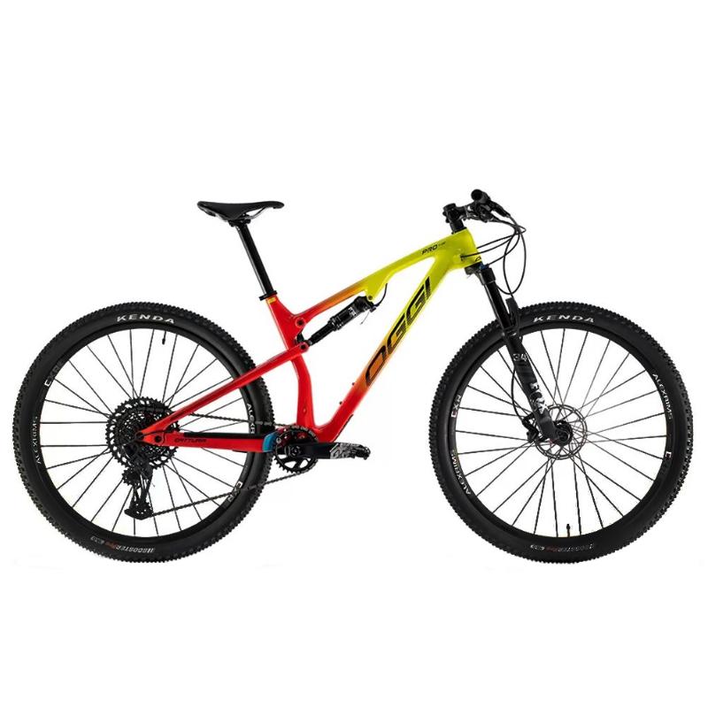 Bicicleta Oggi Tamanho 29 Cattura Pro GX 12V Amarelo/Vermelho 17 2021