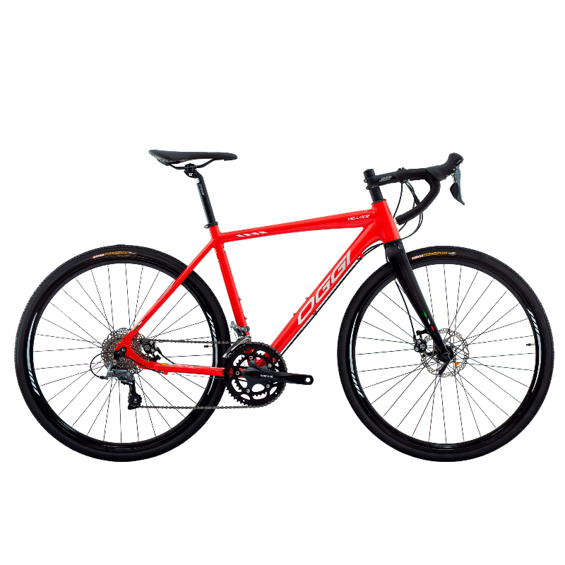 Bicicleta Oggi Velloce Disc Claris 16V Vermelho/Grafite/Branco Tamanho M (52) 2022