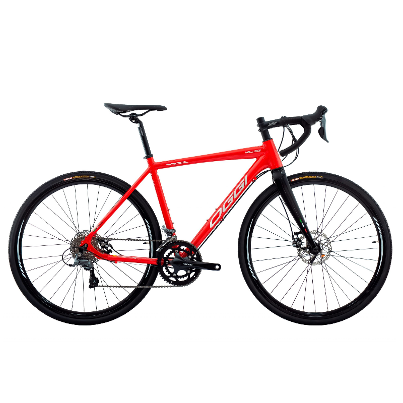 Bicicleta Oggi Velloce Disc Claris 16V  Vermelho/Grafite/Branco Tamanho XL (56) 2022