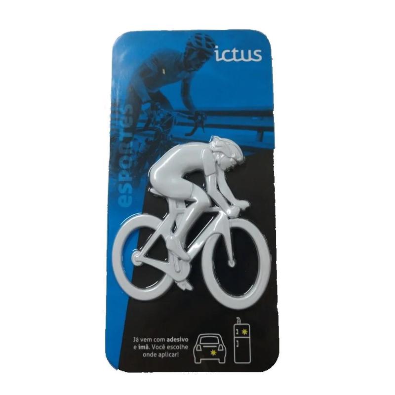 Emblema Ictus Ciclista Branco