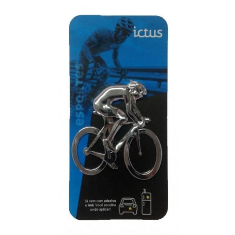 Emblema Ictus Ciclista Prata