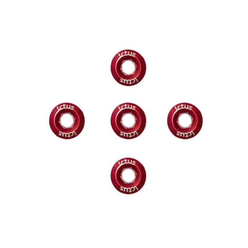 Parafuso De Coroa Ictus Vermelho