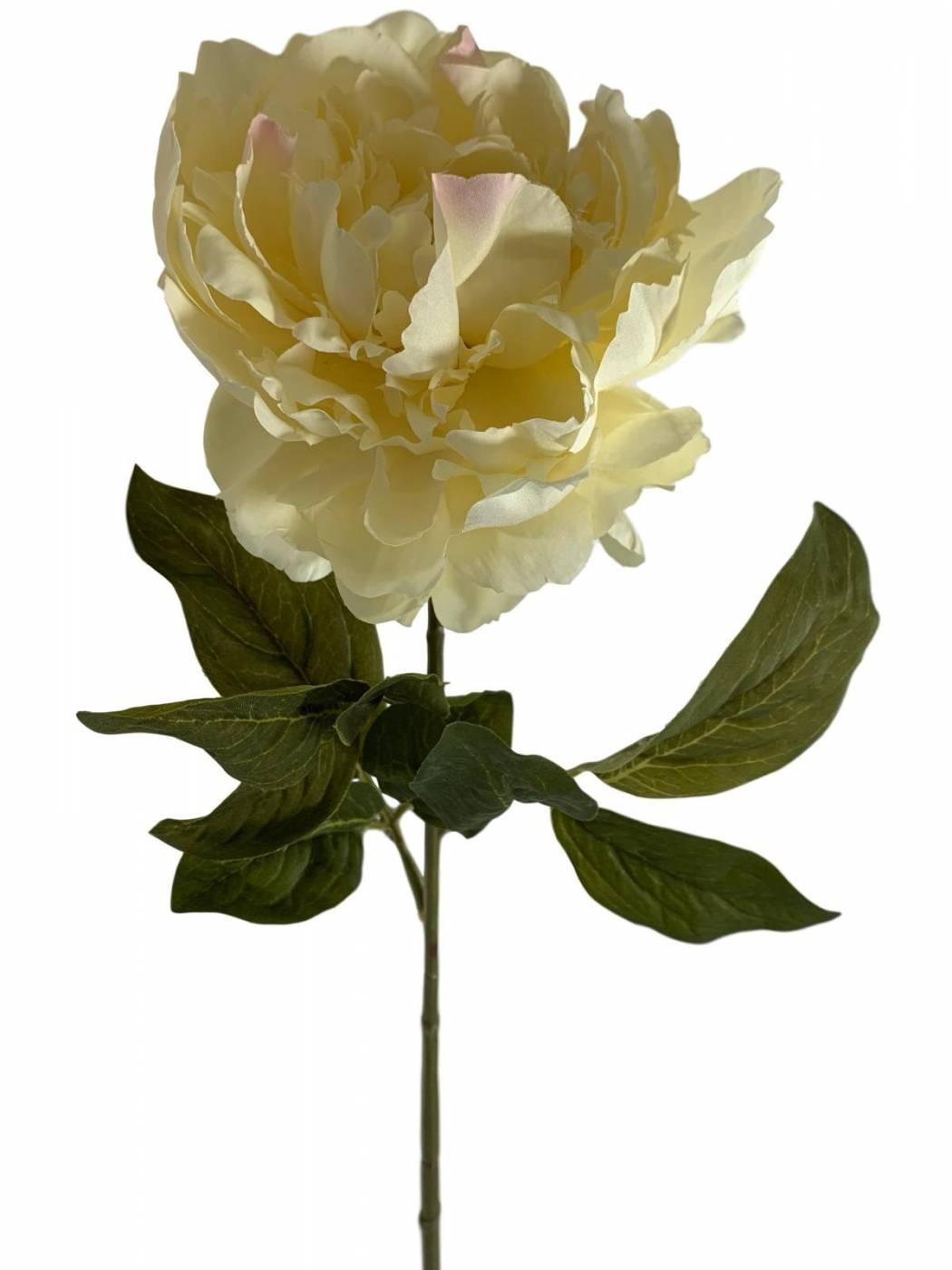 12 galhos de peonias grandes flores artificiais atacado