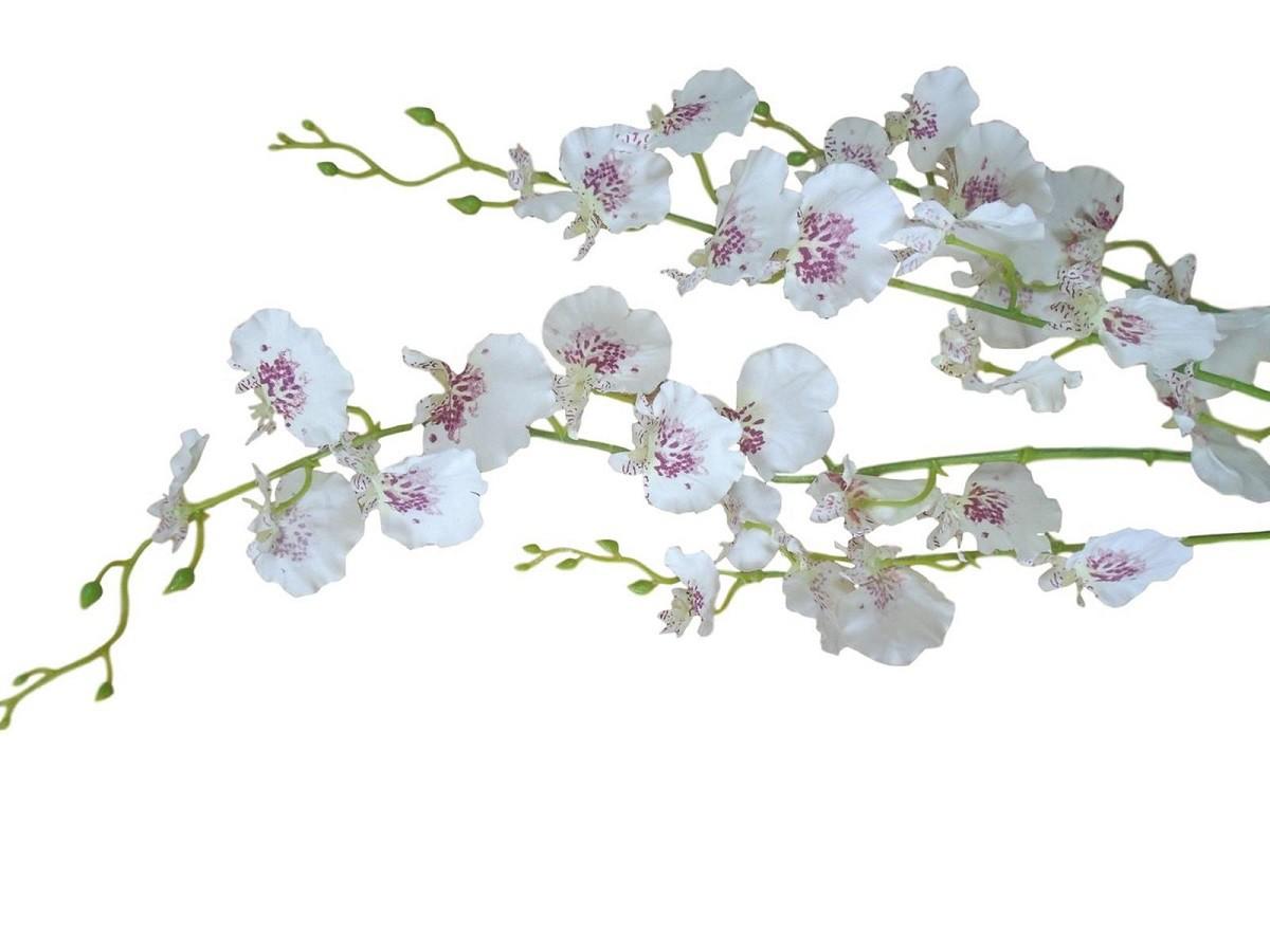 kit 18 galhos de orquideas artificiais + 6 folhas de orquideas