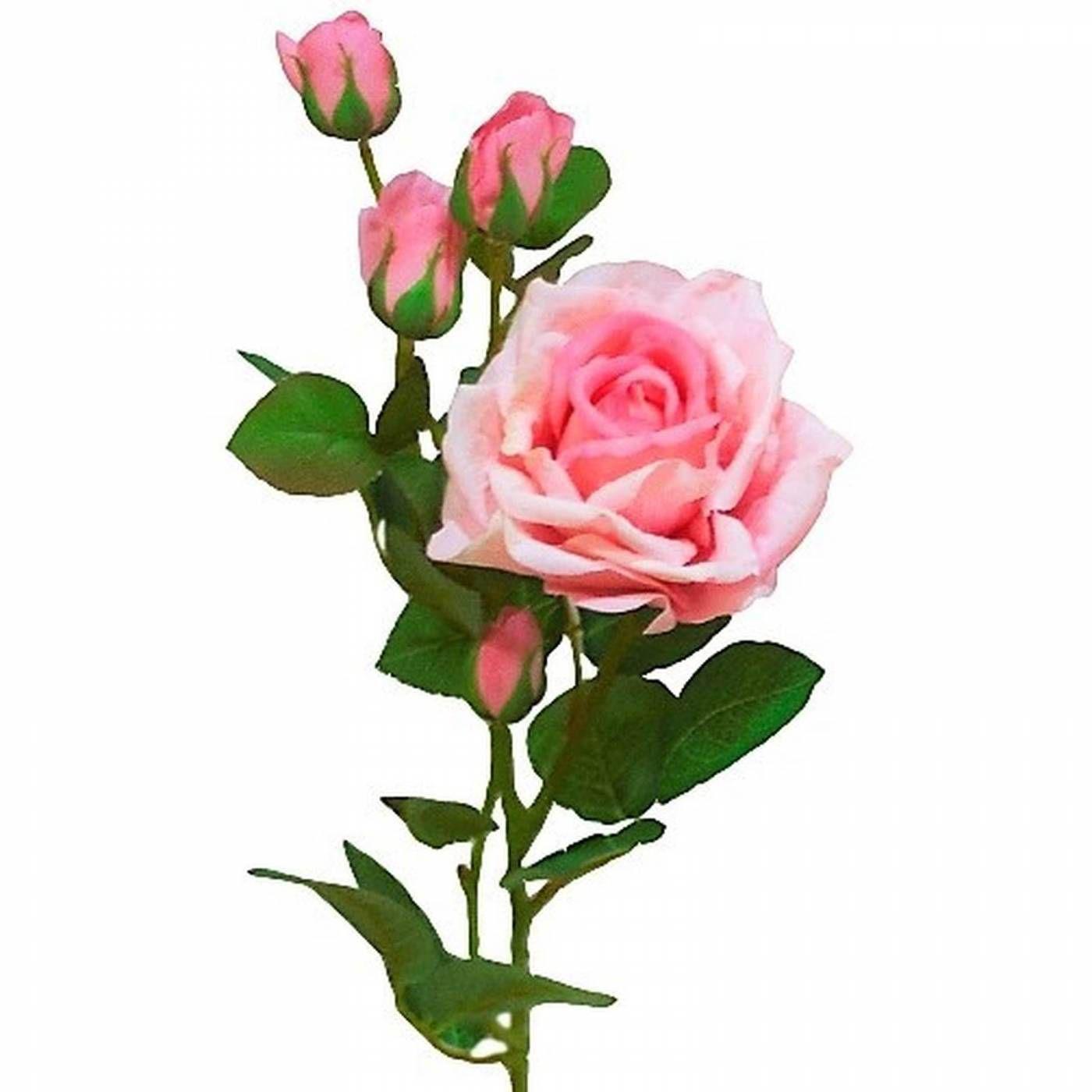 3 Galhos de rosas artificiais de luxo em silicone toque real