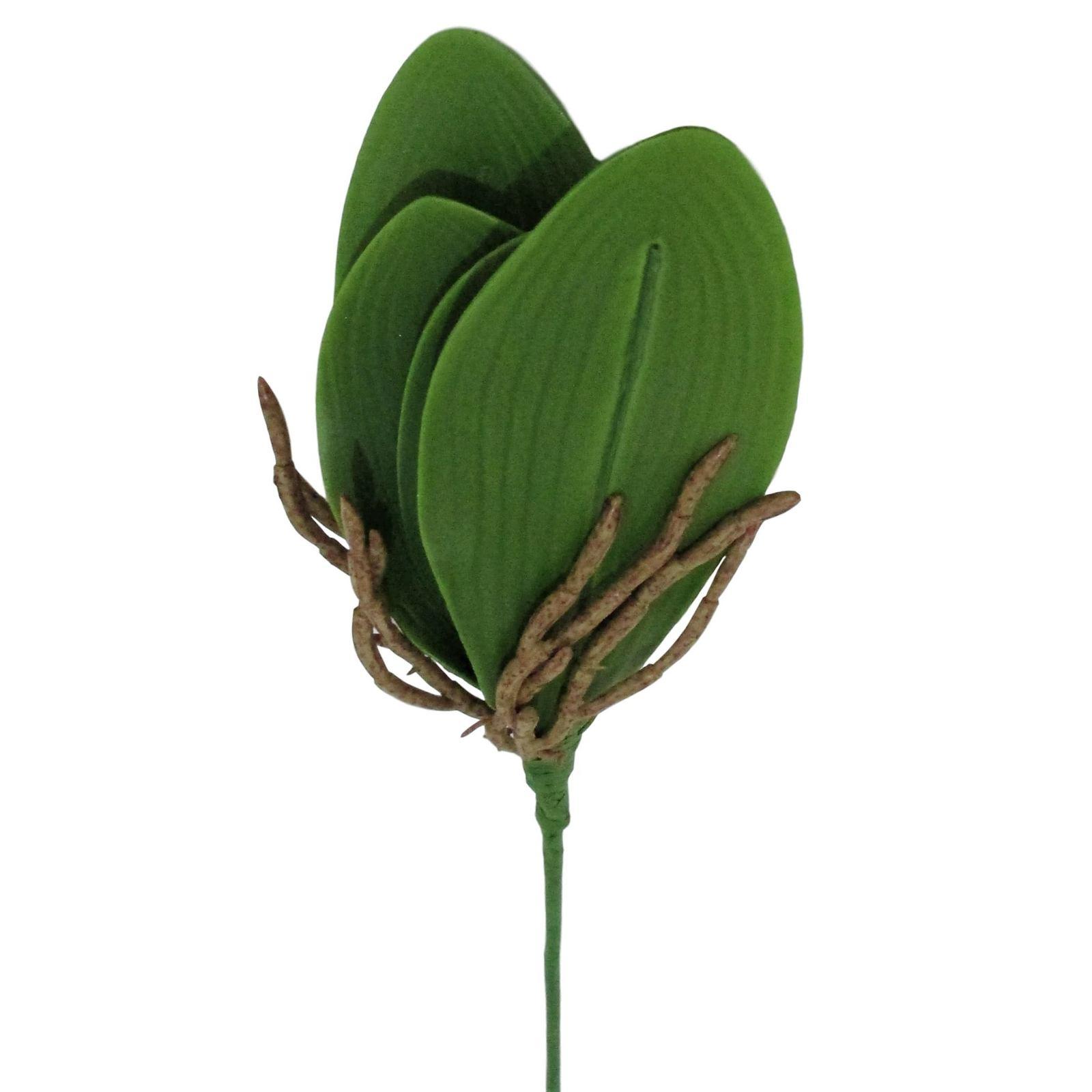 3 Folhas de Orquídeas Artificiais Para arranjos