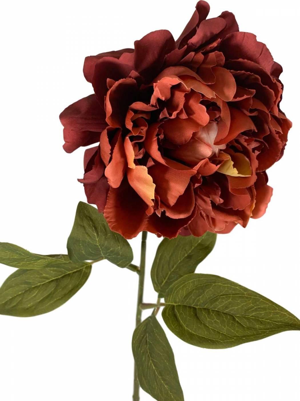 3 galhos de flores artificiais Peônias cores envelhecidas