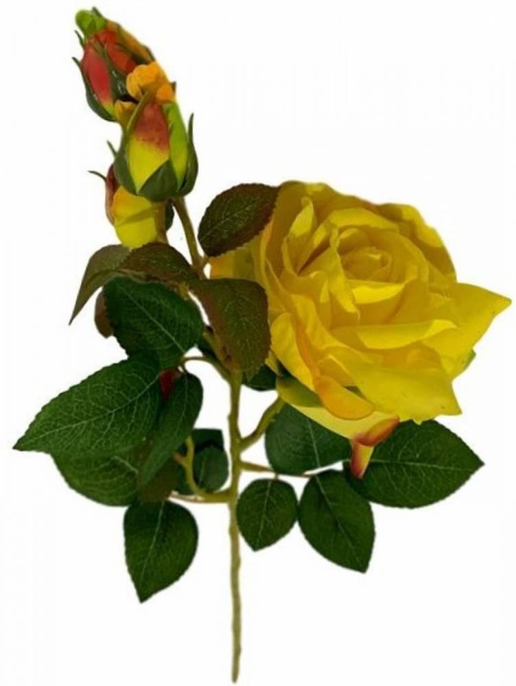 6 Rosas artificiais alta qualidade galhos em silicone decoração